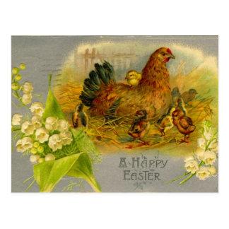 Vintage Easter Hen Postcard