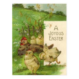 Vintage Easter Holiday chicks postcard