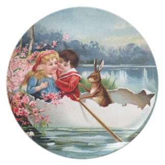 Vintage Easter Party Plate