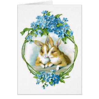 Vintage Easter Rabbits Card