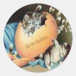Vintage Easter Round Sticker