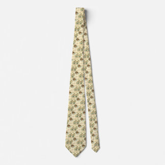 Vintage Easter, Victorian Angel with Lily Flowers Tie