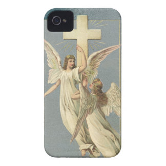 Vintage Easter, Victorian Angels with a Cross iPhone 4 Case-Mate Cases