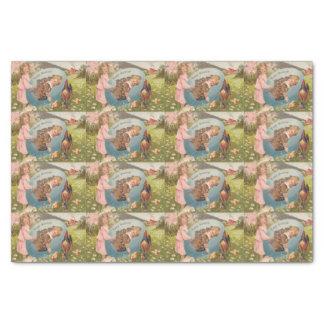 Vintage Easter Victorian Girl & Boy Tissue Paper