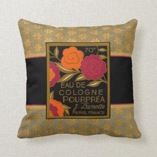 Vintage Eau de Cologne Pourprea Throw Pillow
