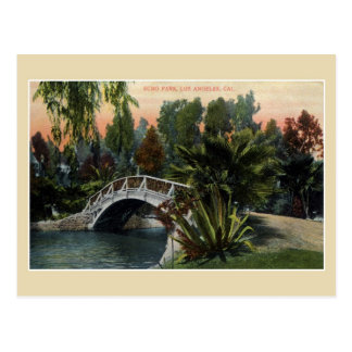 Vintage Echo Park Los Angeles Postcard