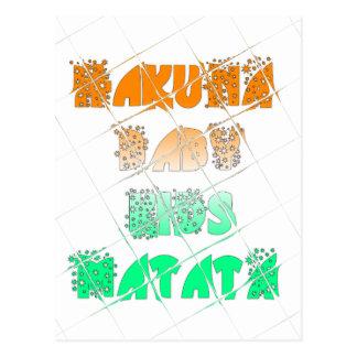 Vintage ECO Hakuna Matata Hakunamatata Gift stars. Postcard
