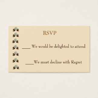 Vintage Ecru Wedding RSVP