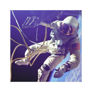 Vintage Ed White First American Spacewalk Canvas Print