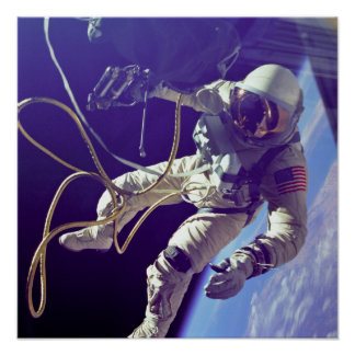 Vintage Ed White First American Spacewalk Poster
