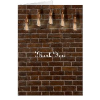 Vintage Edison Lightbulbs Industrial Thank You Card