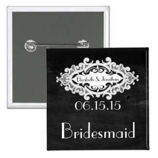 Vintage Edwardian Bridesmaid Pinback Button