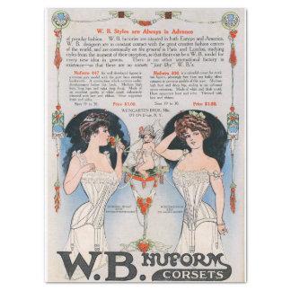 Vintage Edwardian Corset Ad Tissue Paper