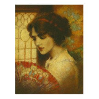 Vintage Edwardian Lady Postcard