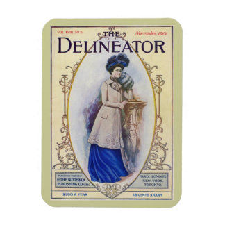 Vintage Edwardian Magazine Cover Rectangular Photo Magnet