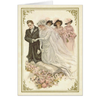Vintage, Edwardian Wedding Notecard
