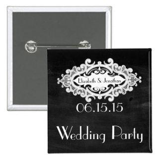 Vintage Edwardian Wedding Party Pins