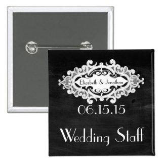 Vintage Edwardian Wedding Staff Button