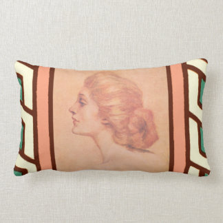 Vintage Edwardian Woman Delineator Cover Gibbs Pillow