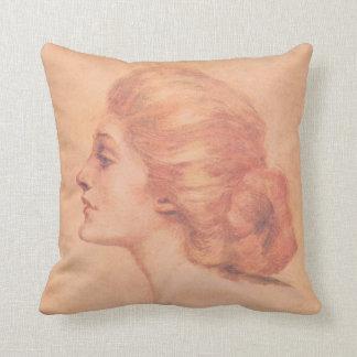 Vintage Edwardian Woman Delineator Cover Gibbs Pillows