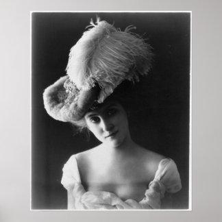 Vintage Edwardian Woman Poster
