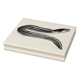 Vintage Eel Rubber Art Stamp
