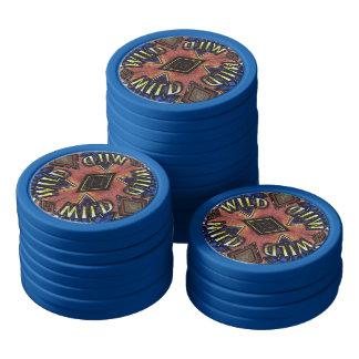 Vintage Effect Wild Card Pattern Poker Chips
