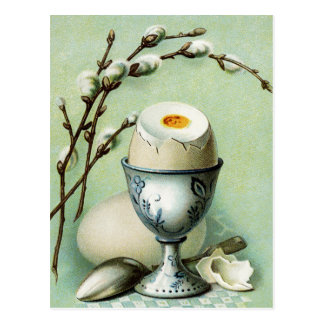 Vintage Egg in a Cup Postcard