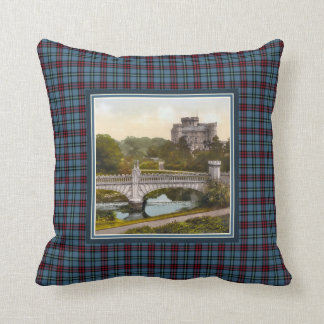 Vintage Eglinton Castle Montgomery Tartan Throw Pillow