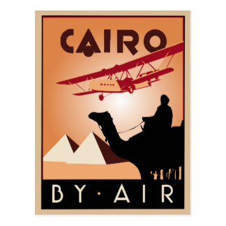 Vintage Egypt travel art deco Postcard