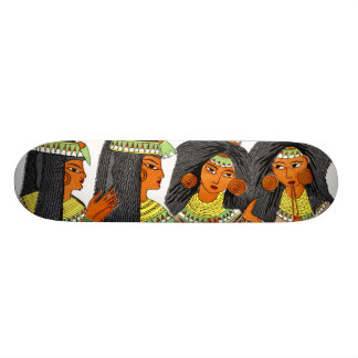 Vintage Egyptian Fashion Women Green Yellow Orange 21.6 Cm Skateboard Deck