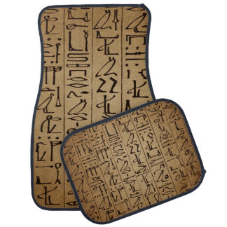 Vintage Egyptian Hieroglyphics Paper Print Car Mat