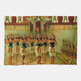 Vintage Egyptian Painting Tea Towel