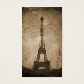vintage eiffel tower business card