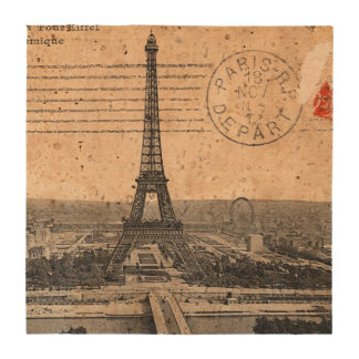 Vintage Eiffel Tower in Paris France Coaster