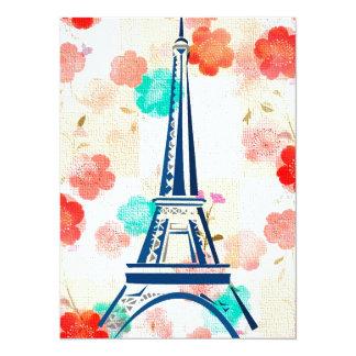 Vintage Eiffel Tower-Paris 14 Cm X 19 Cm Invitation Card