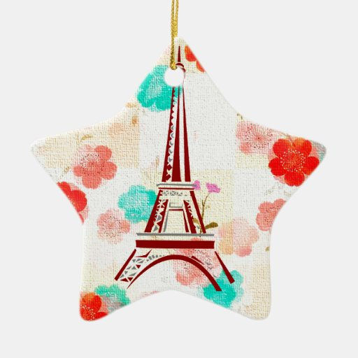 Vintage Eiffel Tower- Paris Christmas Tree Ornament