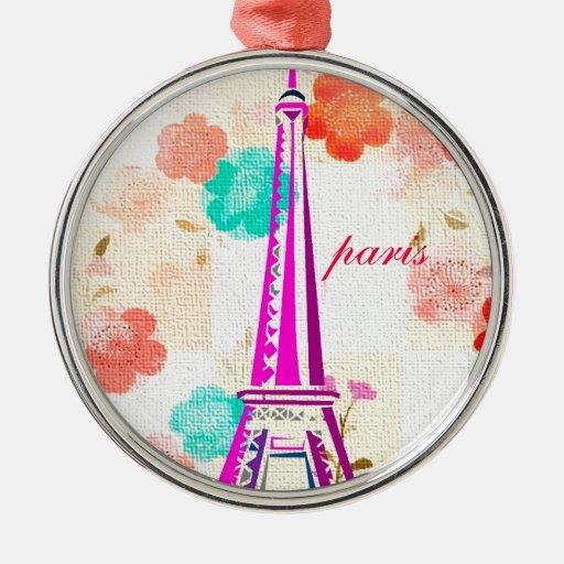 Vintage Eiffel Tower- Paris Christmas Ornament