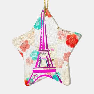 Vintage Eiffel Tower- Paris Christmas Ornaments