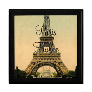 Vintage Eiffel Tower Paris France Poscard -giftbox Gift Box