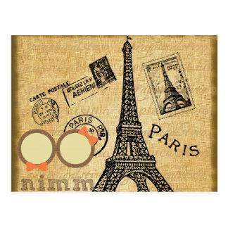 Vintage Eiffel Tower Paris Inspirational Postcard