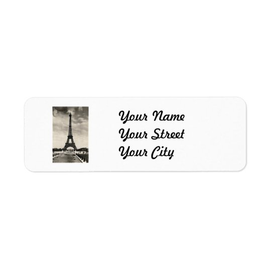 Vintage Eiffel Tower Paris Return Address Label