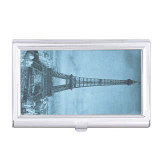 Vintage Eiffel Tower Paris Worlds Fair Stereoview Business Card Holder