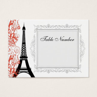 Vintage Eiffel Tower Place Cards