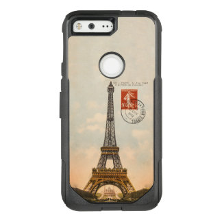 Vintage Eiffel Tower Post Card OtterBox Commuter Google Pixel Case