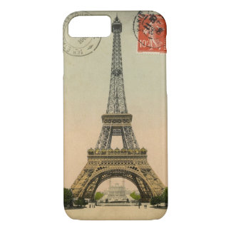Vintage Eiffel Tower Postcard iPhone 7 Case