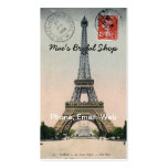 Vintage Eiffel Tower Postcard Pack Of Standard Business Cards