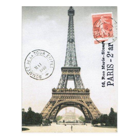 Vintage Eiffel Tower...postcard Postcard