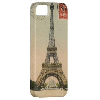 Vintage Eiffel Tower Stamped Postcard iPhone 5 Cases
