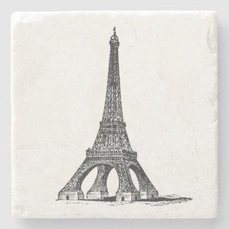 Vintage Eiffel Tower Stone Beverage Coaster